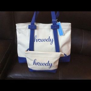 Draper James Tote Set New With Tags